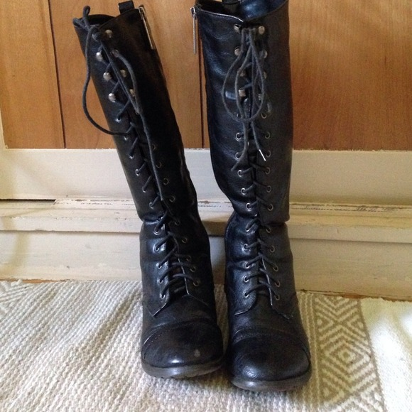 56% off Breckelles Boots - Tall Combat Boots from Natalie's closet ...