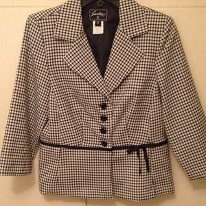 Jackets & Blazers - Black and white blazer