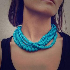 Tibetan handmade vintage style blue beads