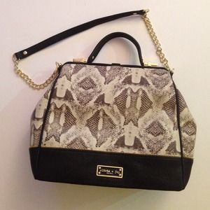 REPTILE PRINT BAG W/DETACHABLE STRAP