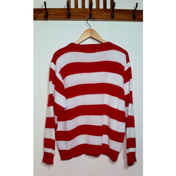 48% off Collections Sweaters - ❤️Red And White Striped Oversize ...