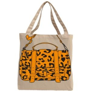 CHEETAH CANVAS TOTE BAG