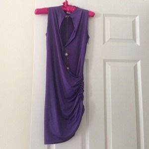 Very elegant purple dress