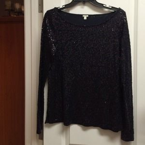 J. Crew sequin top