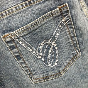 BEBE jewel pocket jeans