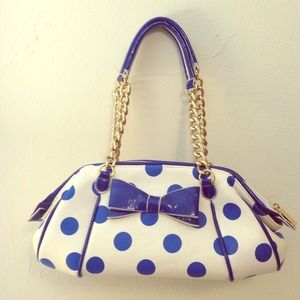 RESERVED! Melie bianco blue polkadot chain handbag