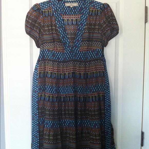 Anthropologie Dresses & Skirts - Patterned Silk Anthropologie Dress