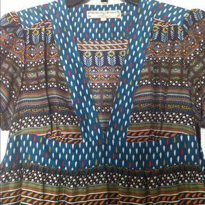 Anthropologie Dresses - Patterned Silk Anthropologie Dress