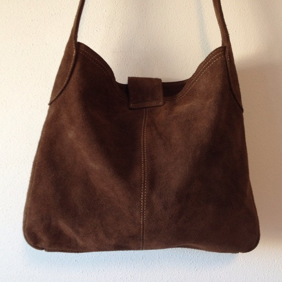 63% off GAP Handbags - GAP brown suede bag! Like new condition ...