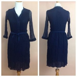 Navy Blouse Dress - mossimo dutti