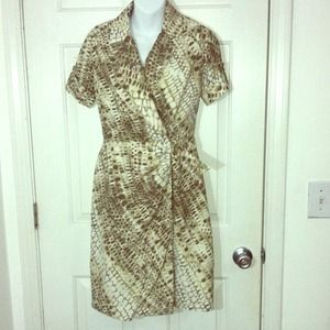 Snake skin pattern dress
