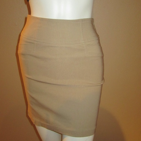 41% off Forever 21 Dresses & Skirts - Khaki Pencil Skirt from ...