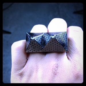 Black Scale Jewelry - Authentic Black Scale 2 finger pyramid ring
