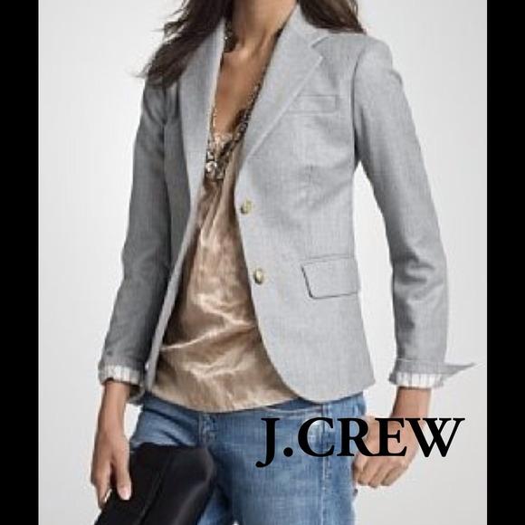 J. Crew Jackets   Blazers - J.Crew Grey Wool Schoolboy Blazer 38b548af357f