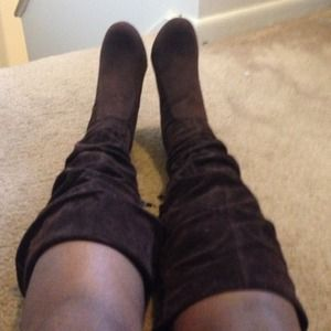 Brown Faux Suede Boots