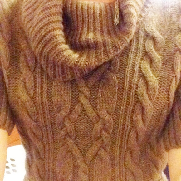 72% off LOFT Dresses & Skirts - Brown Cable knit LOFT sweater ...