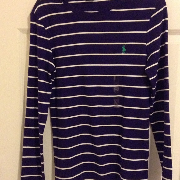 Ralph Lauren - Ralph Lauren purple & white striped sweater from A ...