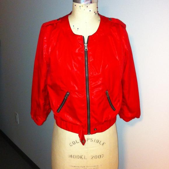 Forever 21 - Forever 21 Red Windbreaker Jacket from Chelsea's ...