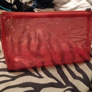 Red cosmetic case $