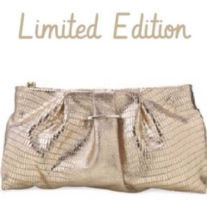 Stella & Dot Clutches & Wallets - Stella & Dot Leather Clutch, Gold