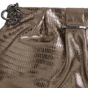 Leather Pewter Metallic Clutch, Stella & Dot