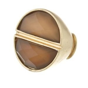 boujibroad.com Jewelry - Caramel & Chocolate Side By Side Stretch Gold Ring