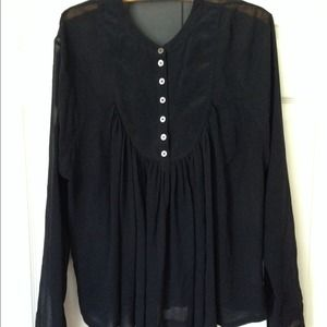 Black silk blouse AllSaints