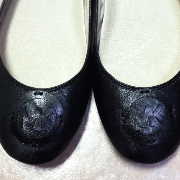 Michael Kors black leather Flats shoes