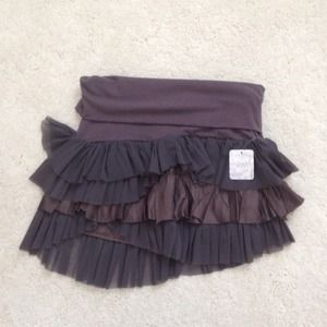 NWT size S grey FREE PEOPLE skirt