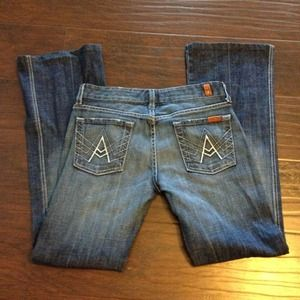 "7 For All Mankind Seven ""A Pocket"" Jeans Size 26"