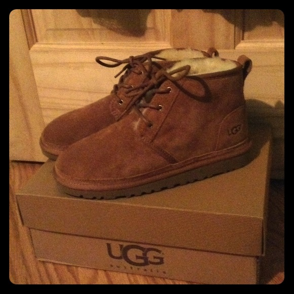 ugg lace up booties in chestnut