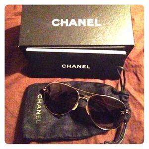 Chanel sunnies! Authentic aviators!