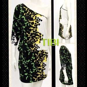 Tibi Jersey One Sleeve Dress
