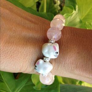 "Jewelry - ""Bunny Bling"" Rose quartz Love amulet"