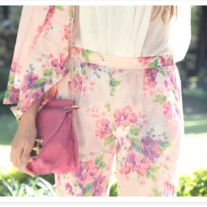 Pants - Pink floral sabo skirt pants 2