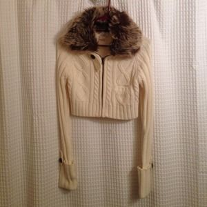 Jackets & Blazers - Cropped cardigan knitted  sweater