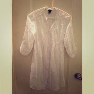 SOLD H&M white shirt dress