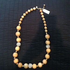 Kate Spade wood and crystal necklace