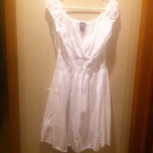 Dresses & Skirts - White cotton dress and wedge bundle for Diana