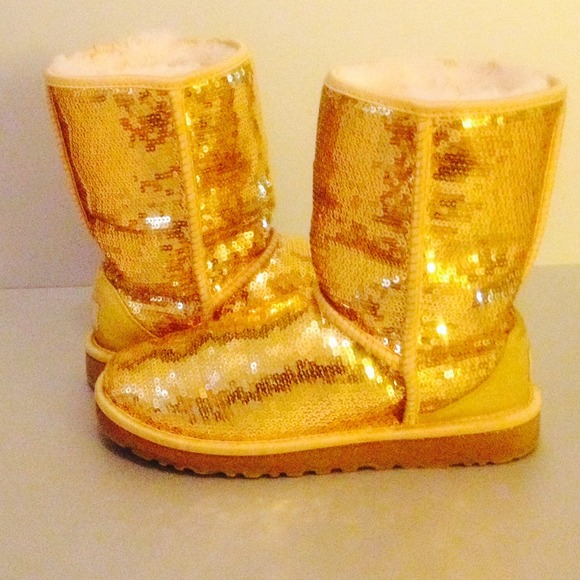 Gold Sequin Uggs Gold Sparkle Uggs