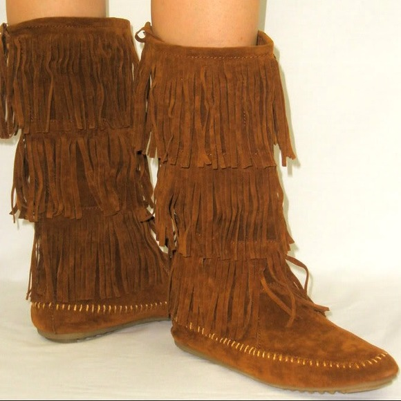 brown indian fridge moccasin boots 8 from s