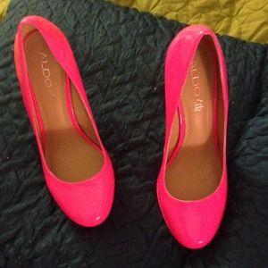 ed80c43a2822 ALDO Shoes - Hot pink Aldo Pumps Size 39