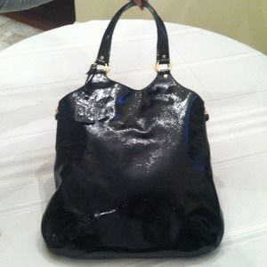 "Authentic YSL Patent Leather ""TRIBUTE"" tote bag"