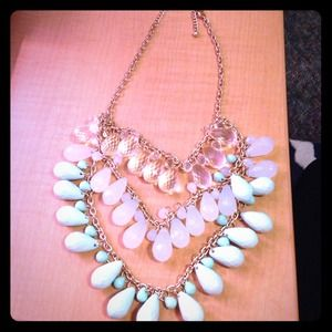 Three tiered statement necklace!