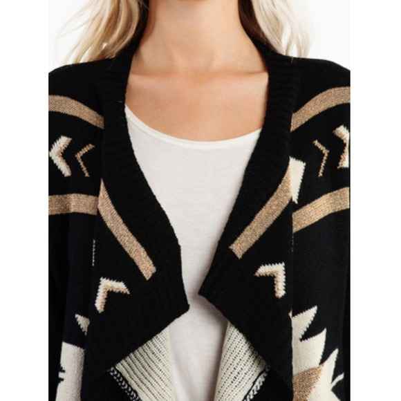 11% off Sweaters - ❌SOLD❌ Storenvy Gold Black Aztec Knit ...