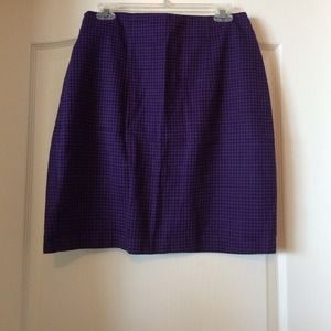 Purple and black houndstooth skirt