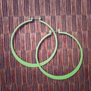 Lime Green Hoop Earrings