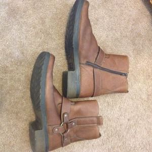 Other - Men's leather moto motorcycle boots 11
