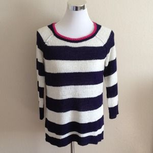 Cable & Gauge Sweaters - NEW Metallic Knit Striped Sweater