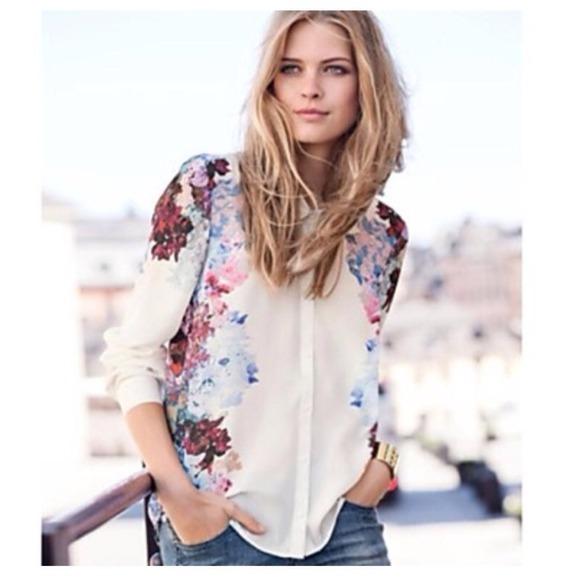 Hm tops hp 0531hm whitepurple flower blouse poshmark hp 0531hm whitepurple flower blouse mightylinksfo